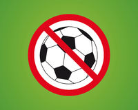 No Soccer. Ball Button Illustration Royalty Free Stock Photography