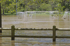 No Soccer Due to Flood Royalty Free Stock Photo