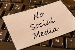 No social media text concept. Over dark computer keyboard background Stock Photos