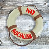 No Socialism Lifesaver. Waiting for you royalty free stock photography