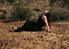 NO SOLÁRIO NATURAL fotografia de stock royalty free