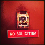 No Soliciting Door SIgn Royalty Free Stock Photography