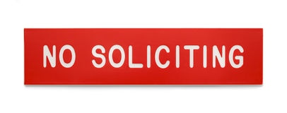 No Soliciting Royalty Free Stock Images