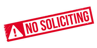 No Soliciting rubber stamp Royalty Free Stock Photography