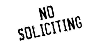 No Soliciting rubber stamp Royalty Free Stock Photo