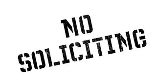 No Soliciting rubber stamp Royalty Free Stock Images
