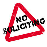 No Soliciting rubber stamp Royalty Free Stock Photos