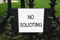 No Soliciting Royalty Free Stock Photos
