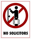 No Solicitors Royalty Free Stock Photography
