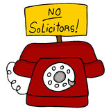 No Solicitors Telephone royalty free illustration