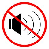 No sound. Indicating signal to noise ban Royalty Free Stock Image