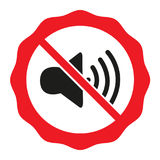 The no sound icon. Flat Vector illustration Volume Off symbol. Royalty Free Stock Image