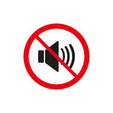 The no sound icon. Volume Off symbol. Flat Royalty Free Stock Image