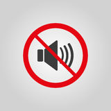 The no sound icon. Volume Off symbol. Flat Stock Images