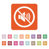 The no sound icon. Volume Off symbol. Flat Royalty Free Stock Photo