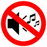 No sound sign Stock Images