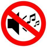No sound sign vector illustration