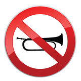 No sound sign. Keep Quiet symbol. Royalty Free Stock Photography