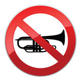 No sound sign. Vector Keep Quiet symbol. Royalty Free Stock Photos