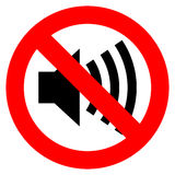 No Sound Vector Sign Stock Images