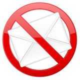 No spam. Prohibition spam sign on white background Royalty Free Stock Images