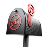 No spam. E-mail mailbox concept (3d illustration Royalty Free Stock Images
