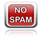 No spam button Stock Image