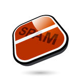 No spam button Stock Photo