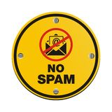 No Spam Circle Sign Royalty Free Stock Photos