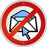 No spam e-mail Royalty Free Stock Image