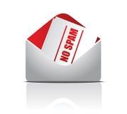 No spam envelope illustration design. Over white background Royalty Free Stock Images