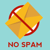 No spam illustration with envelope Stock Photos