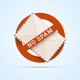 No spam illustration. Royalty Free Stock Image