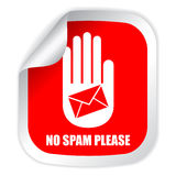 No spam please Royalty Free Stock Image