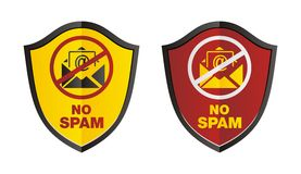 No spam shield Royalty Free Stock Image
