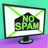No Spam Shows Removing Unwanted Junk Email. No Spam Showing Removing Unwanted Junk Email Royalty Free Stock Photography