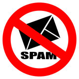 No spam sign Royalty Free Stock Photo