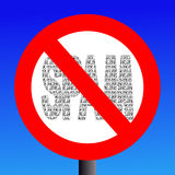 No Spam sign Stock Photo