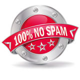 No Spam. Trojans, security and  spam filters Royalty Free Stock Photo