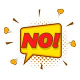 No, speech bubble icon, pop art style Royalty Free Stock Image
