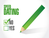 No speed dating sign concept illustration design Stock Photo