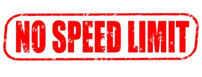 No speed limit red stamp. On white background Royalty Free Stock Photos