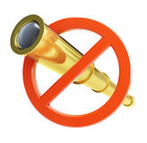 No spyglass. On a white background Stock Images