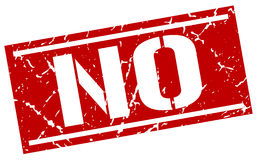 No square stamp. No square grunge red stamp Royalty Free Stock Images