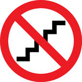 No stairs sign Royalty Free Stock Photo