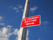 No Standing Anytime Sign Royalty Free Stock Photos