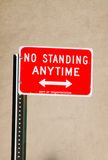 No Standing anytime. Sign board in New York City Royalty Free Stock Photos