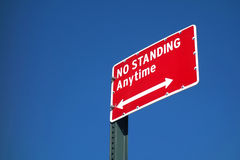 No Standing Royalty Free Stock Photo