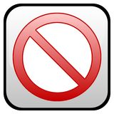 No standing sign Royalty Free Stock Photography