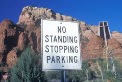 No standing stopping parking sign Royalty Free Stock Photography